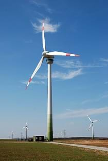 A wind turbine with an observation deck in Austria.