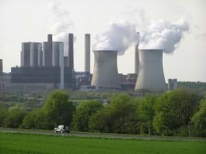 A power plant in Rhineland, Germany.