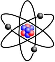 An illustration of a Rutherford atom.