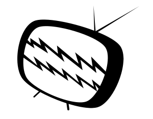 A cartoon image of a TV.