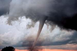 A tornado 7 miles south of Anadarko, Oklahoma.