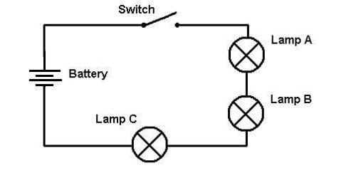 light series wiring diagram one path lesson teachengineering org a circuit diagram for a three light bulb series circuit lines