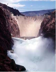 A photograph of Hoover Dam in Boulder City, NV.