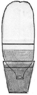 A sketch shows a 2-liter bottle inverted with its neck in a container of water. The water level in the inverted bottle is below a marked line on the bottle.