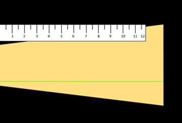 A diagram shows a light measurement guide composed of a one-foot ruler placed next to the beam of flashlight light on black paper.