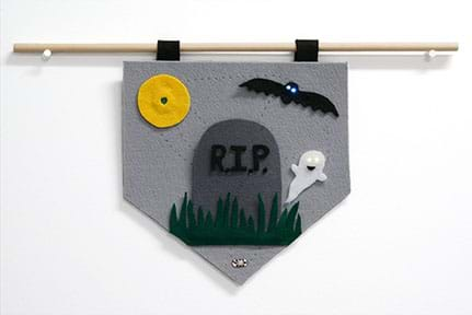 Example pennant showing a graveyard scene.