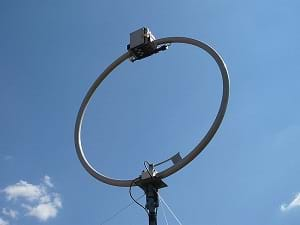 A shortwave loop antenna.